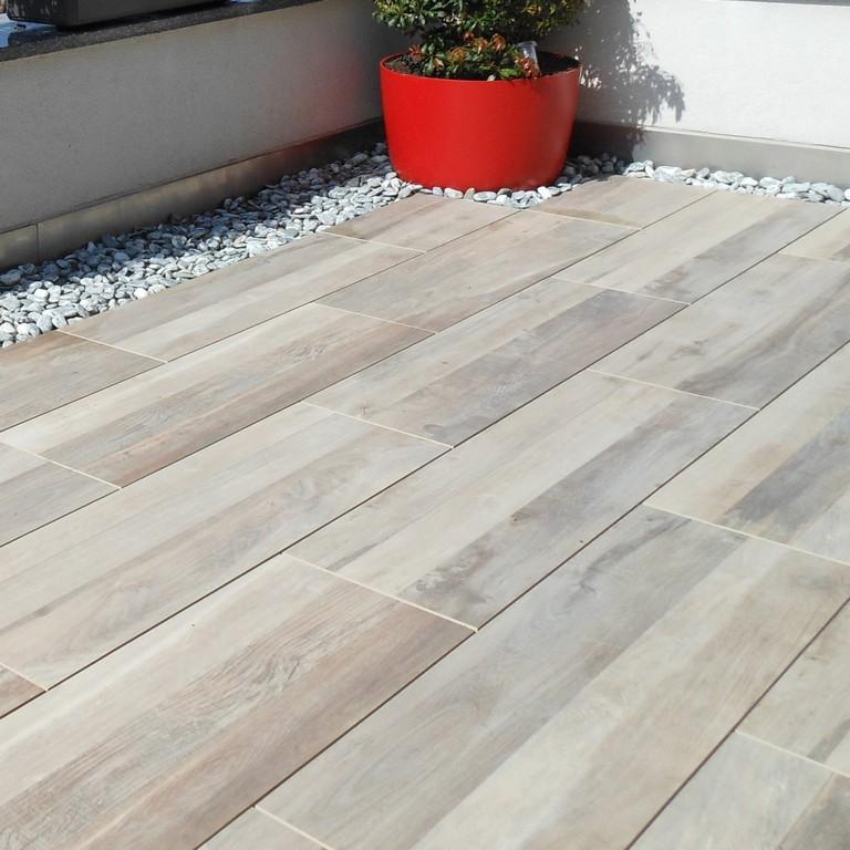 Terrassen Bodenplatten Holz Haus Ideen