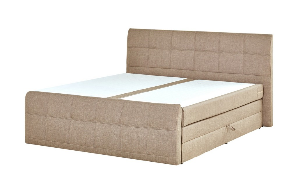 Boxspringbett 180x200 Mit Bettkasten Sand Mbel Kraft regarding dimensions 2000 X 1222