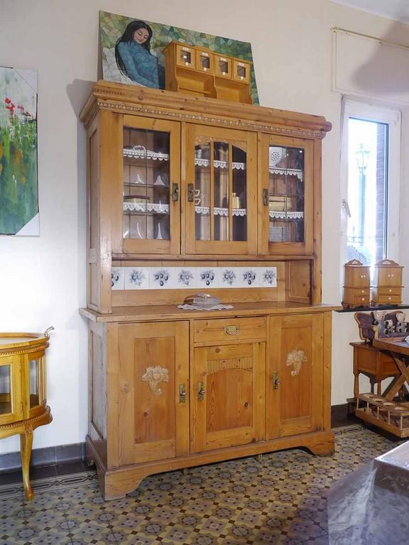 Buffetschrank Aus Weichholz Antik Um Kuchenmobel Landhaus Weis Grau for measurements 900 X 1200