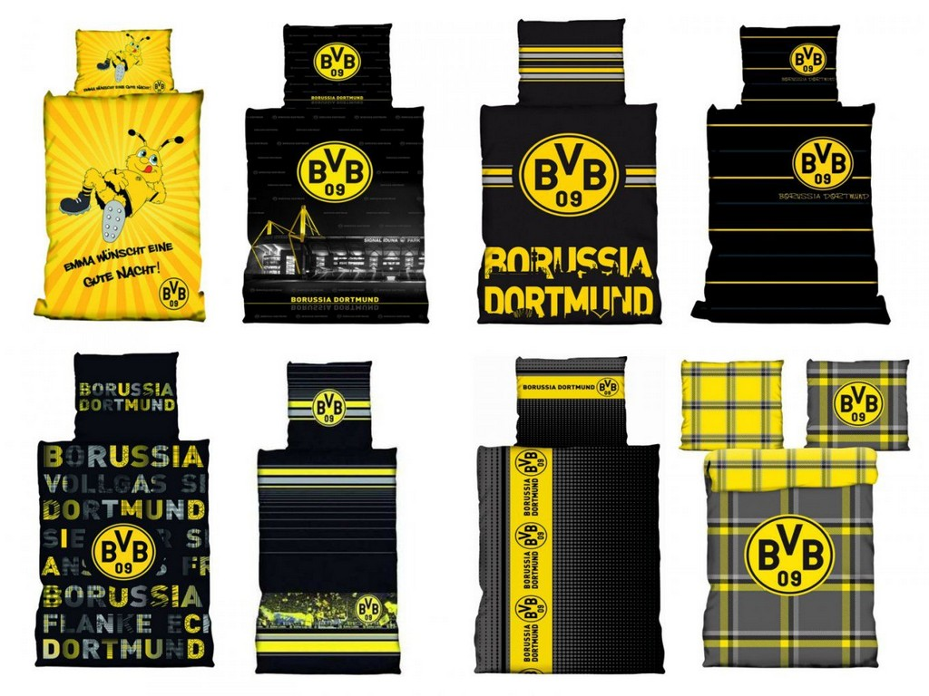 Bvb Borussia Dortmund Bettwsche 135x200 Cm 155x220 Cm 100x135 Cm intended for size 1360 X 1020