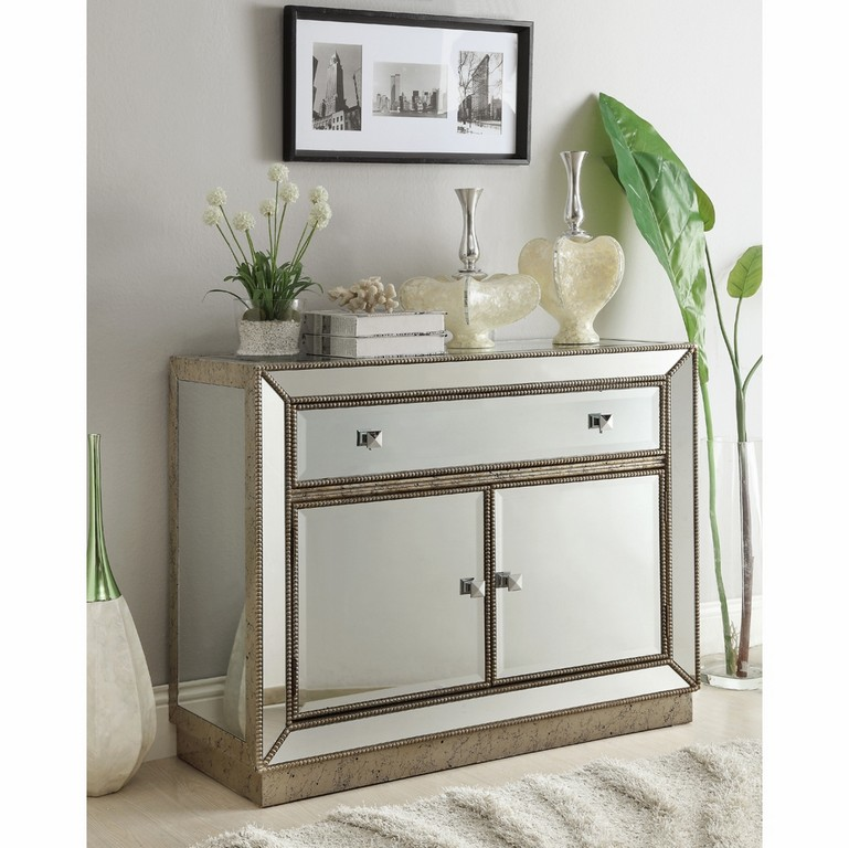 Coast To Coast Imports One Drawer Two Door Cabinet In Estaline within dimensions 1001 X 1000