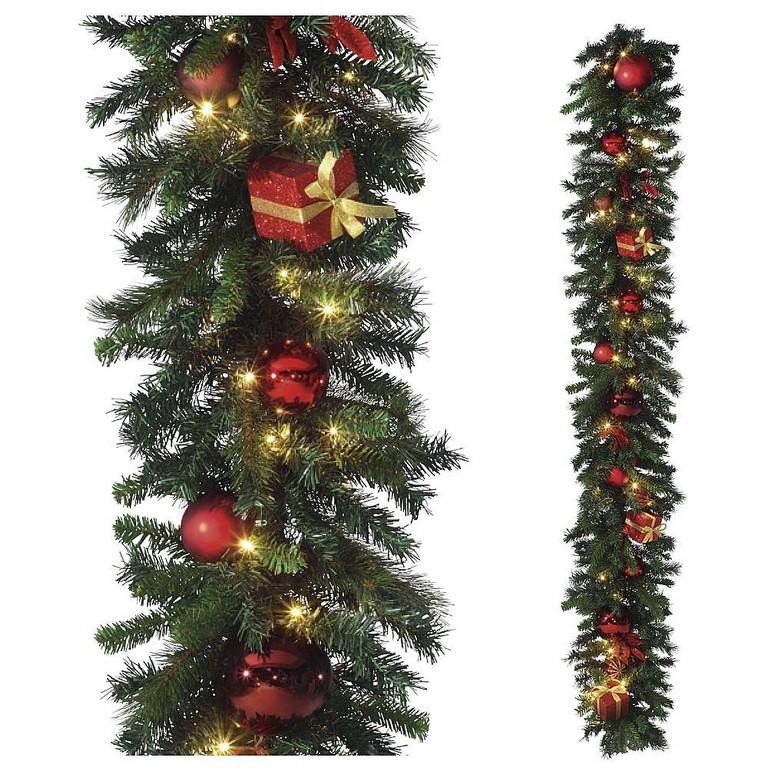 Deko Weihnachtsgirlande Mit Led 180 Cm Dekoration Bei Dekowoerner inside size 1000 X 1000