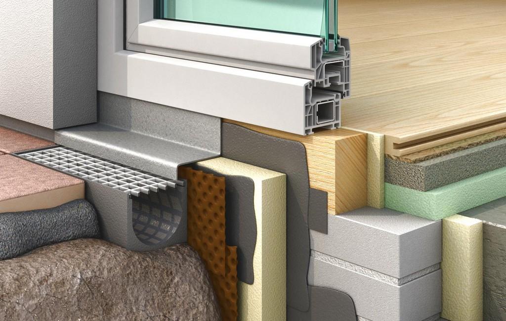 Detailabdichtung Fr Bodentiefe Fenster La Hahne Per Flssigkunststoff intended for dimensions 1500 X 950