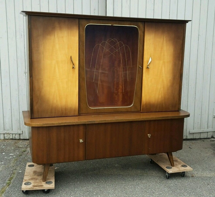 Details Zu 50er 60er Schrank Vitrine Sideboard Rockabilly Anrichte pertaining to proportions 986 X 900