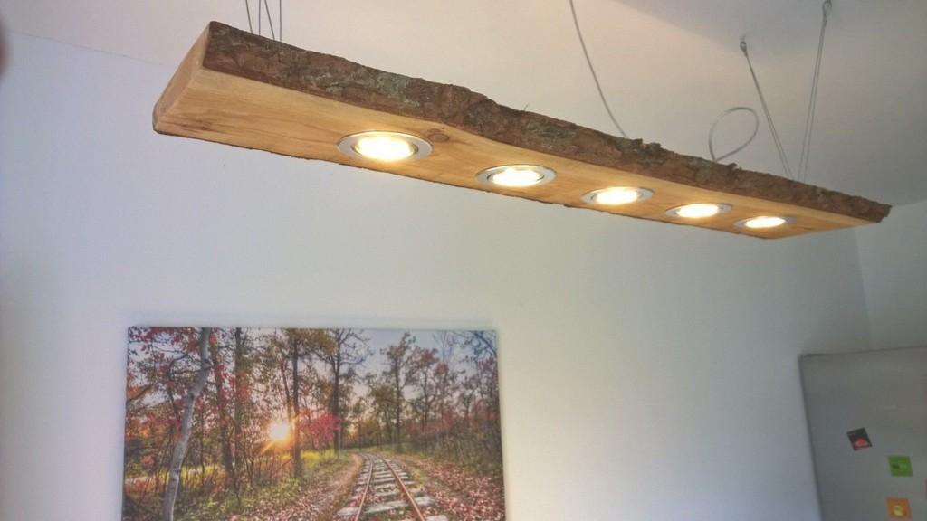 Details Zu Led Eichen Hngelampe Rustikal 120cm 5x 5w Osram with regard to size 1600 X 900