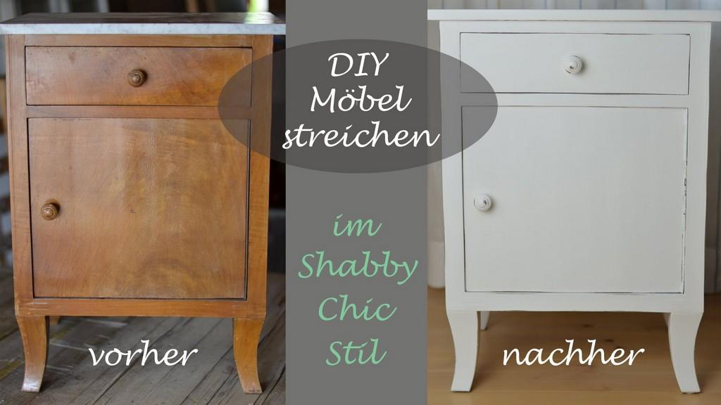 Diy Shab Chic Stil Altes Schrnkchen Mit Weier Kreidefarbe with size 1920 X 1080
