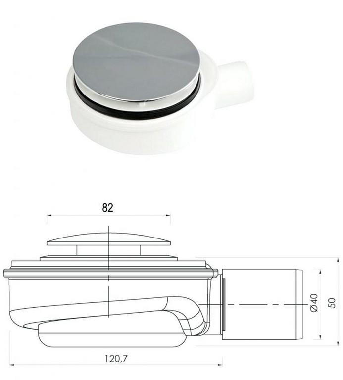 Dusche Siphon Flach Modell A Mm Edelstahl Abdeckplatte Chrom Extra for size 924 X 1024