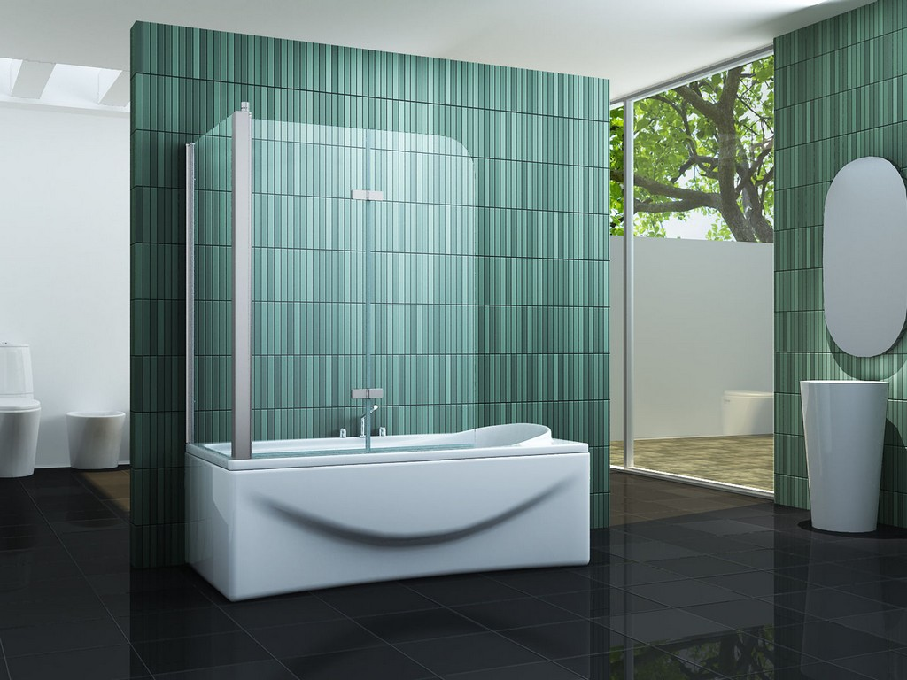 Eck Duschtrennwand Perinto 80 Badewanne in sizing 1440 X 1080