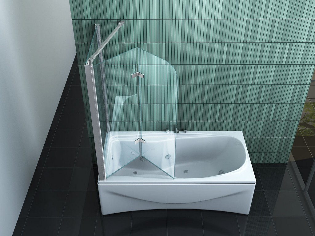 Eck Duschtrennwand Perinto 80 Badewanne with regard to proportions 1440 X 1080