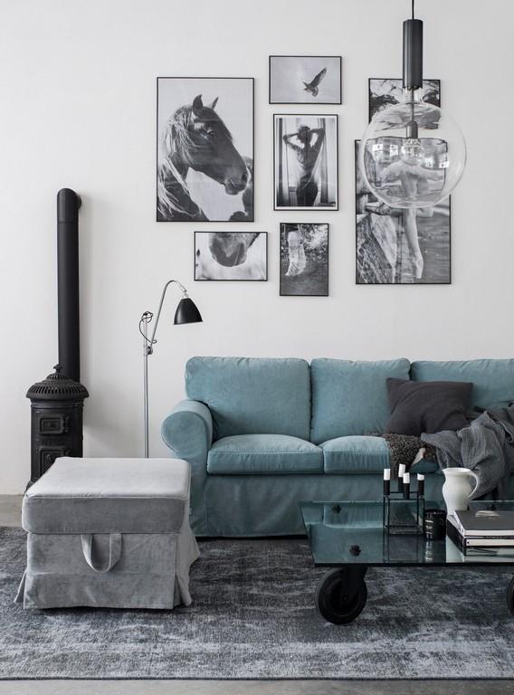 Ektorp 3 Seater Sofa Cover Without Piping Ektorp Sofa Blue regarding measurements 2000 X 2703