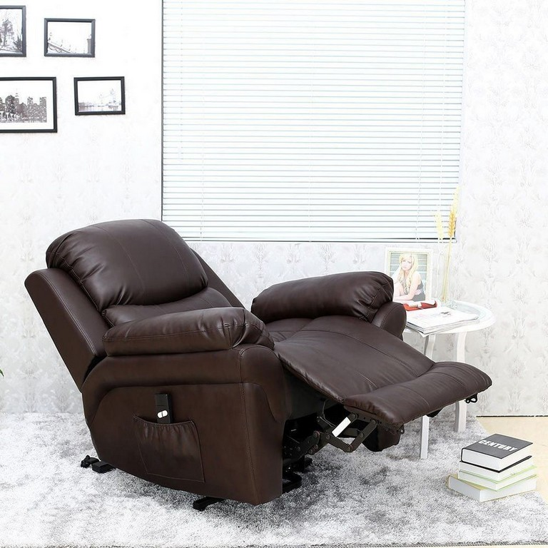 Electric Recliner Armchair Leather Rise Gaming Relax Lounge Sofa inside measurements 1000 X 1000