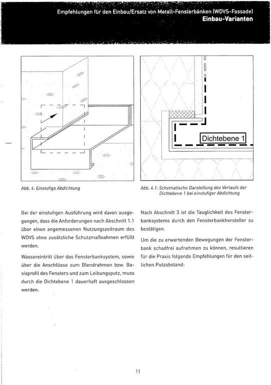Empfehlungen Fr Den Einbauersatz Von Metall Fensterbnken Wdvs in size 960 X 1362
