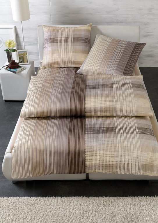 Estella Mako Satin Bettwsche Lamont 135x200 80x80 Cm In Braun regarding size 1131 X 1600