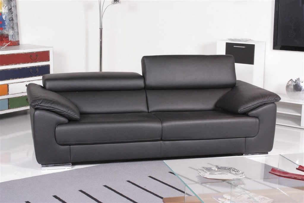 Ewald Schillig Sofa Blues 2 Sitzer Leder Schwarz Im Mbel Outlet intended for proportions 1200 X 800