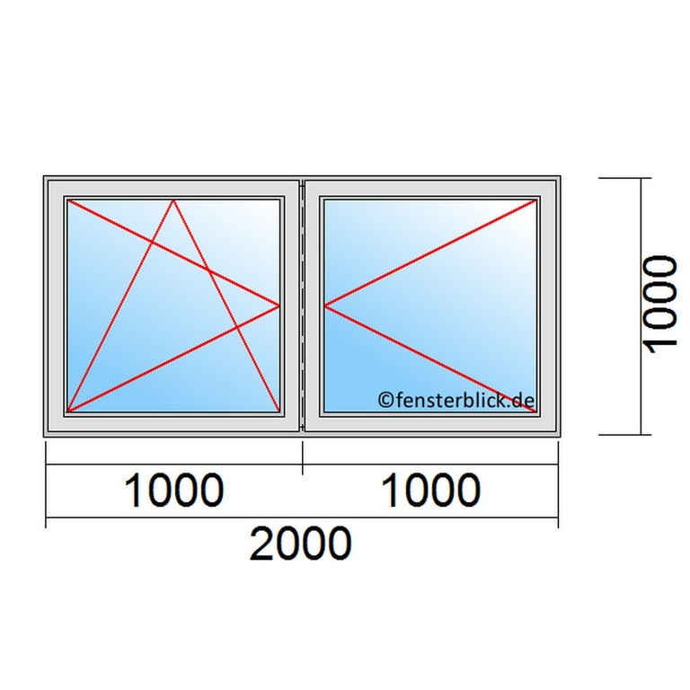 Fenster 200x100cm Zu Gnstigen Preisen Fensterblickde regarding dimensions 960 X 960