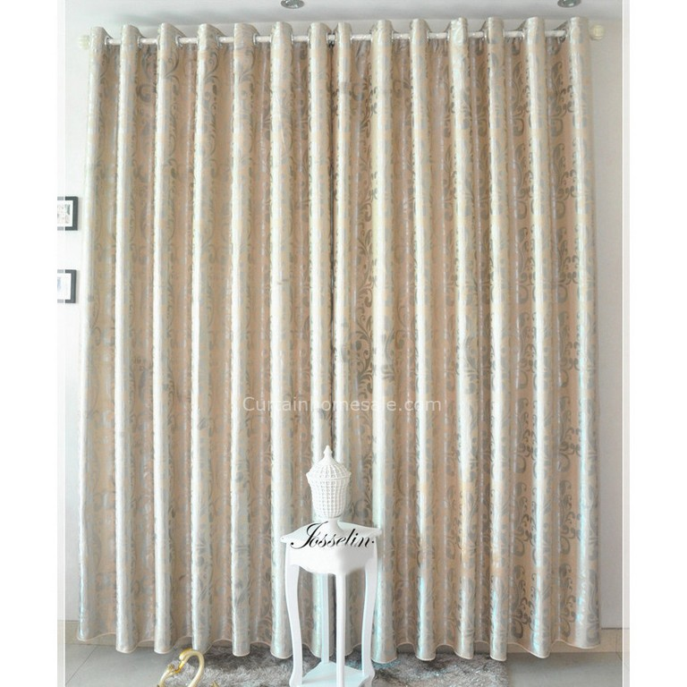 Fenster Verdunkelung Vorhnge In Beige Farbe Und Jaquard Handwerkskunst regarding measurements 900 X 900