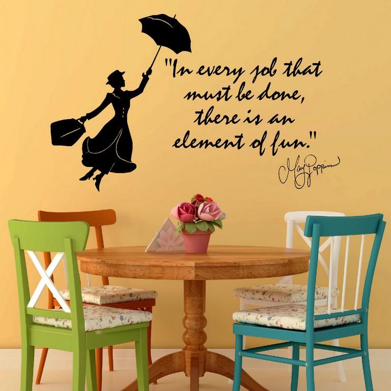 G143 Mary Poppins Julie Andrews In Jedem Job Vinylwandkunst Zitat with regard to measurements 1600 X 1600