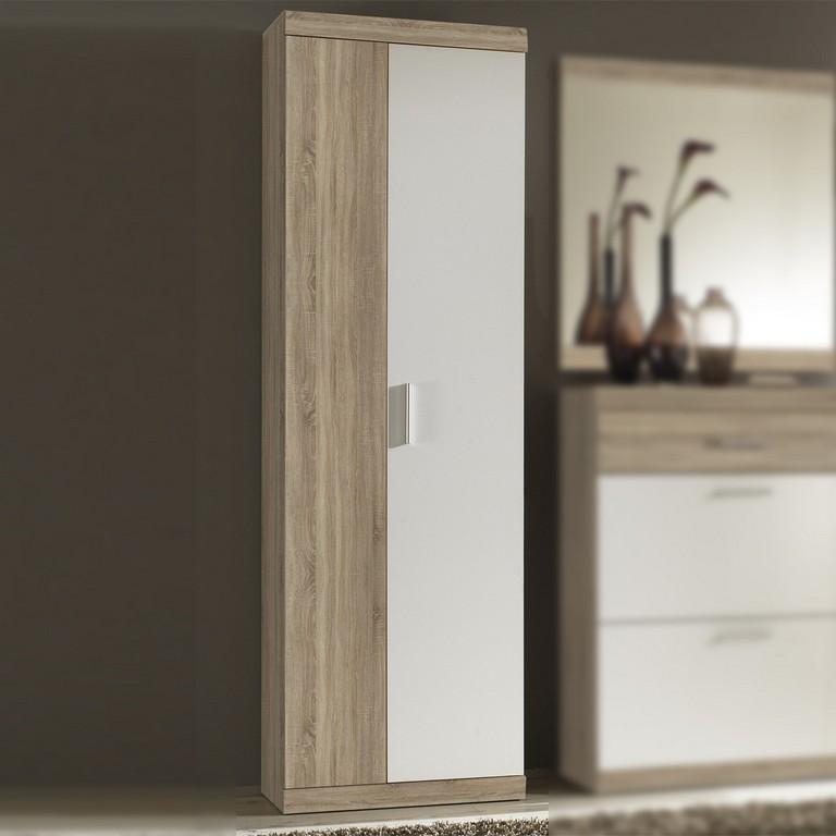 Garderobenschrank Imperial 2 Flur Schrank In Eiche Sonoma Und Wei regarding dimensions 1200 X 1200