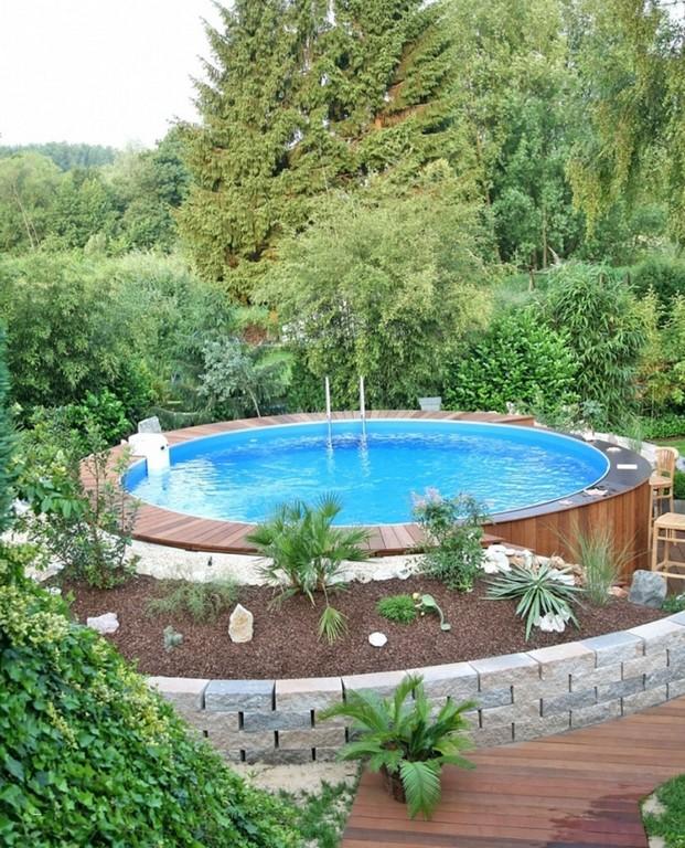 Gartengestaltung Vorschlge Frisch Pool Im Garten Integrieren Best intended for size 828 X 1024