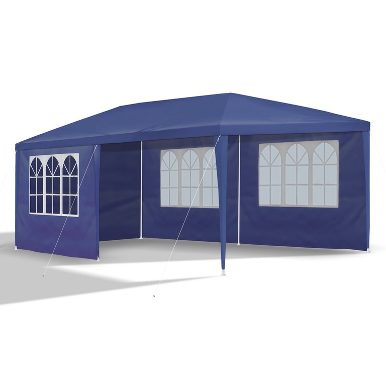Gartenpavillon 3 X 6 M Blau Pavillon Pavillion Partyzelt with regard to measurements 2000 X 2000