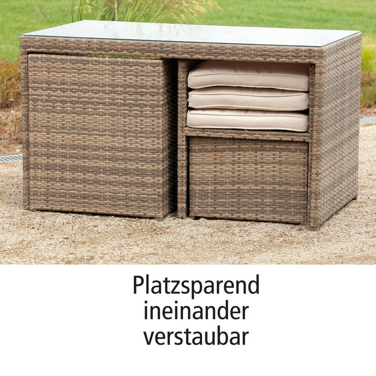 Geflecht Dining Lounge Sets In 2 Farben Platzsparend In intended for dimensions 1280 X 1280
