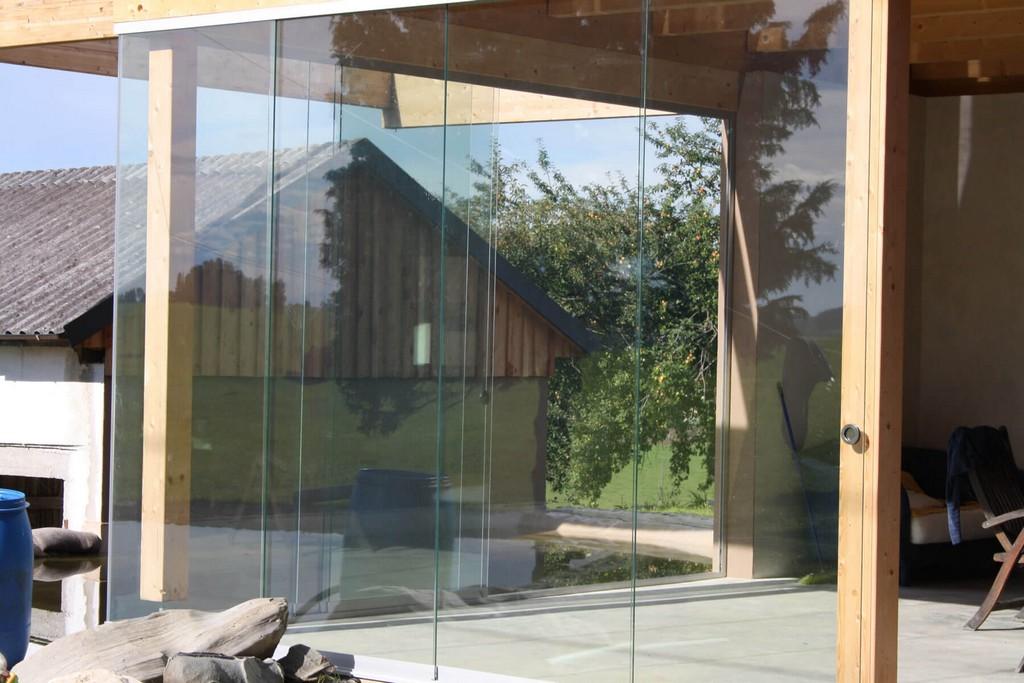 Glasschiebetren Fr Holzanbau Auf Terrasse Fenster Schmidinger for proportions 1800 X 1200