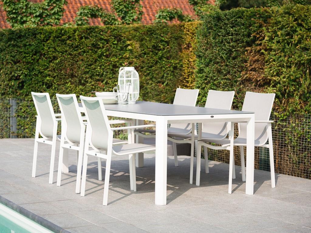 Groer Weier Gartentisch Mit Modernen Esssthlen Gartenmbel intended for size 6000 X 4500