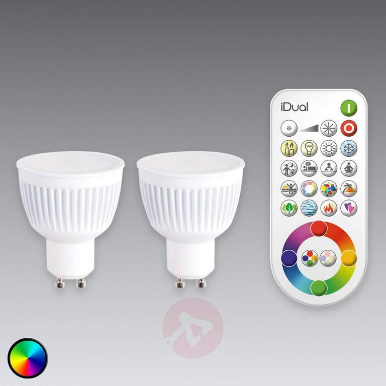 Gu10 Idual Led Lampe 2er Mit Fernbedienung Kaufen Lampenweltde within size 1200 X 1200