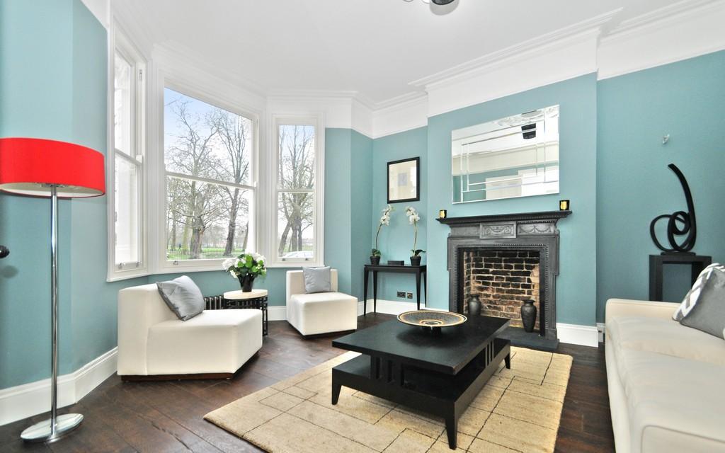 Herunterladen Hintergrundbild 4k Wohnzimmer Blau Design Alte inside sizing 3840 X 2400
