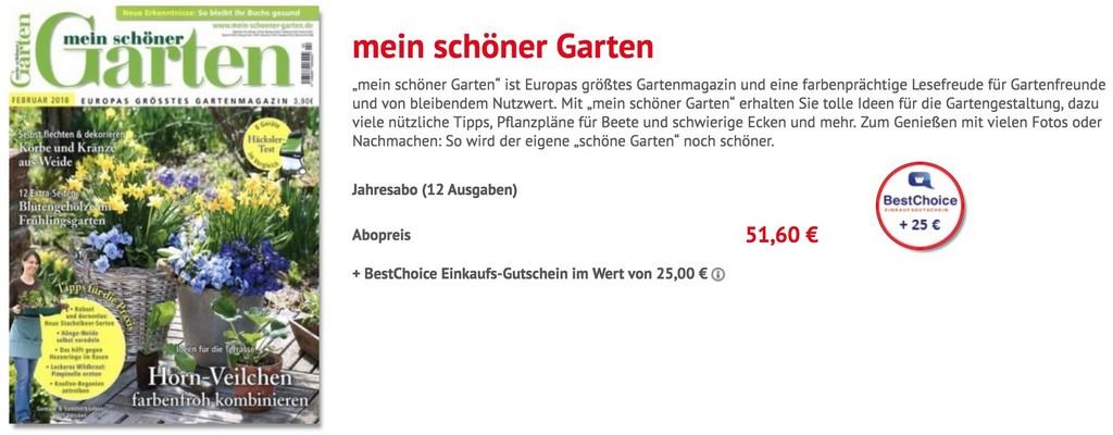 Jahresabo Der Zeitschrift Mein Schner Garten Fr Nur 5160 Euro within proportions 2010 X 786