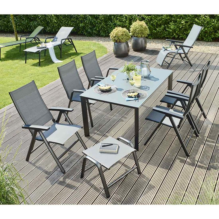 Kettler Cirrus Stapel Und Klappsessel Gartenmbelset 7 Teilig Mit intended for measurements 1100 X 1100