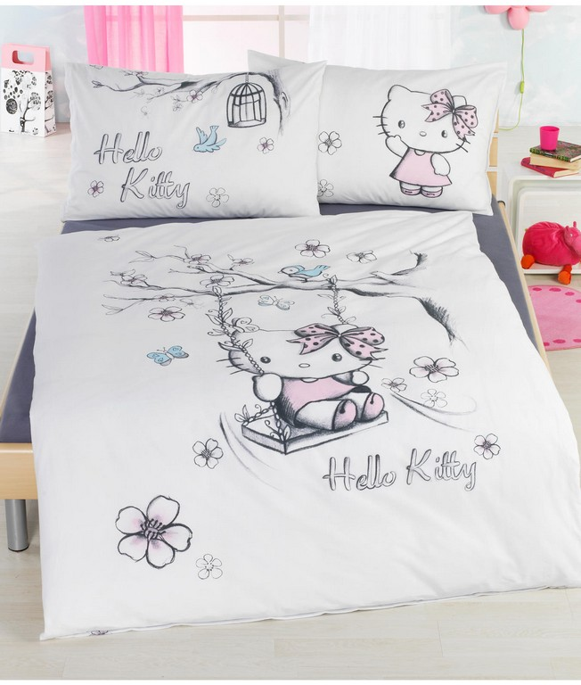 Kinder Bettwsche Garnitur Hello Kitty Kaufen Angela Bruderer with regard to dimensions 1352 X 1592