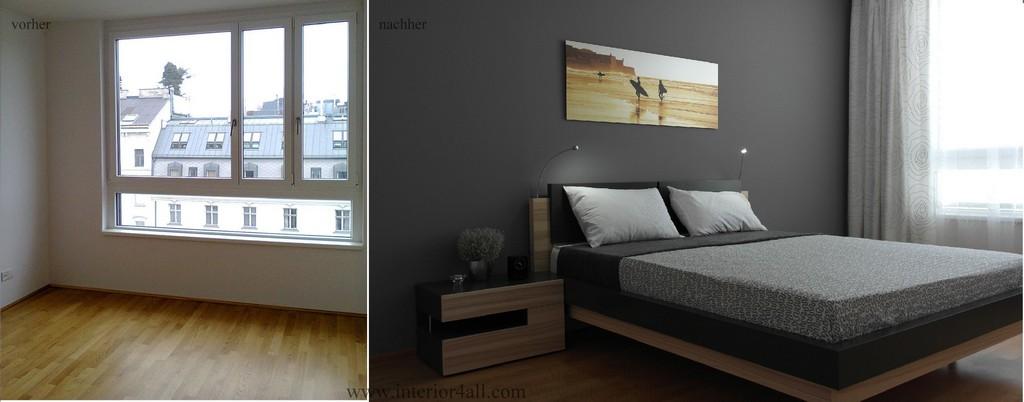 Kleine Rume Einrichten Stilvolle Mnner Schlafzimmer Vorher within proportions 3000 X 1179