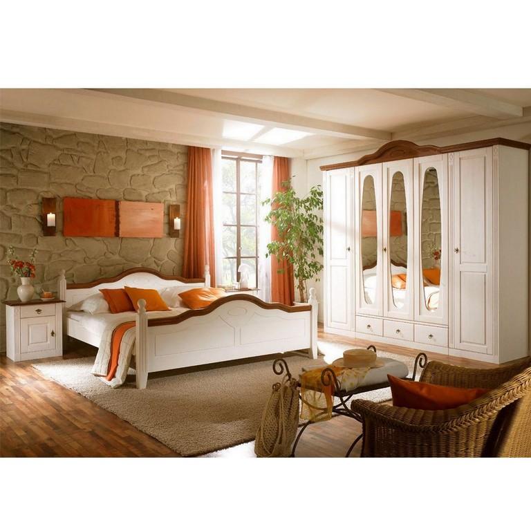 Komplett Landhaus Schlafzimmer Obus In Wei Pharao24de regarding measurements 1000 X 1000