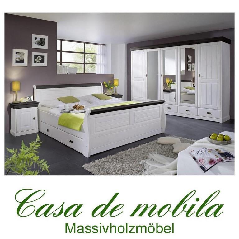 Komplettes Schlafzimmer Weiss Kolonial 4 Teilig Komplett Holz Kiefer inside size 1024 X 1024
