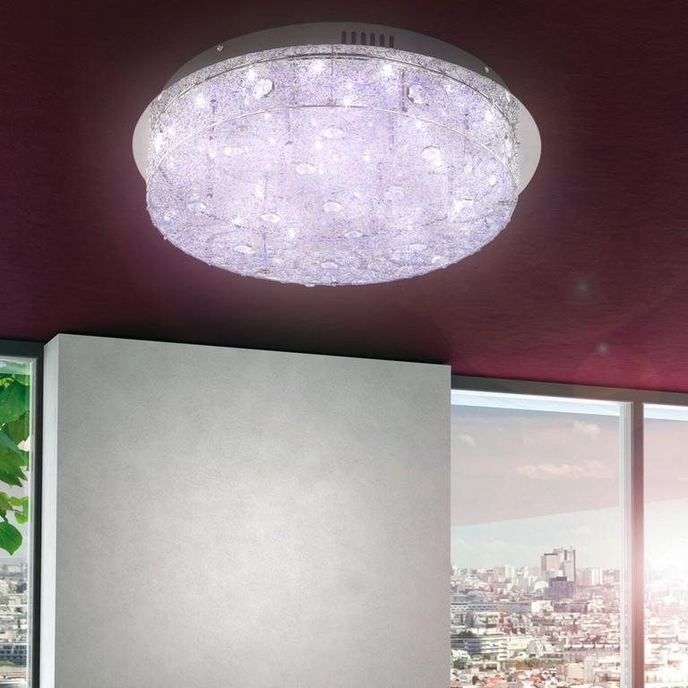 Kristall Wand Leuchte Wohnzimmer Decken Lampe Licht Bunt Led Chrom inside measurements 1000 X 1000