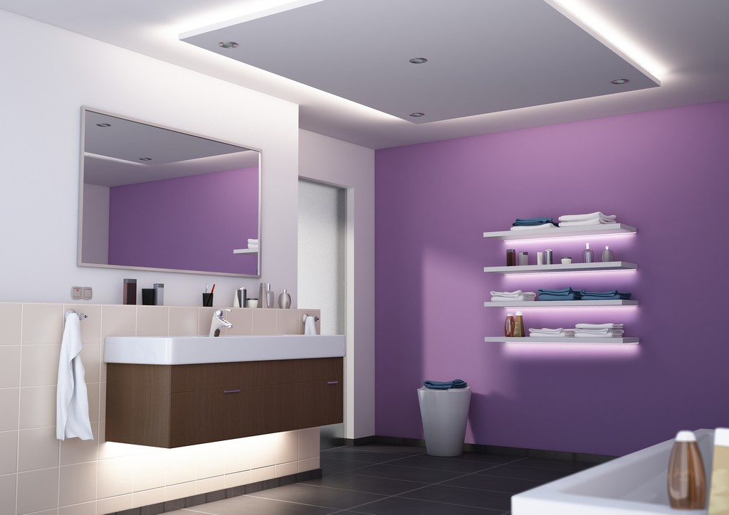 Led Beleuchtung Im Bad Wellness Im Badezimmer Mit Led Strips within measurements 2000 X 1414