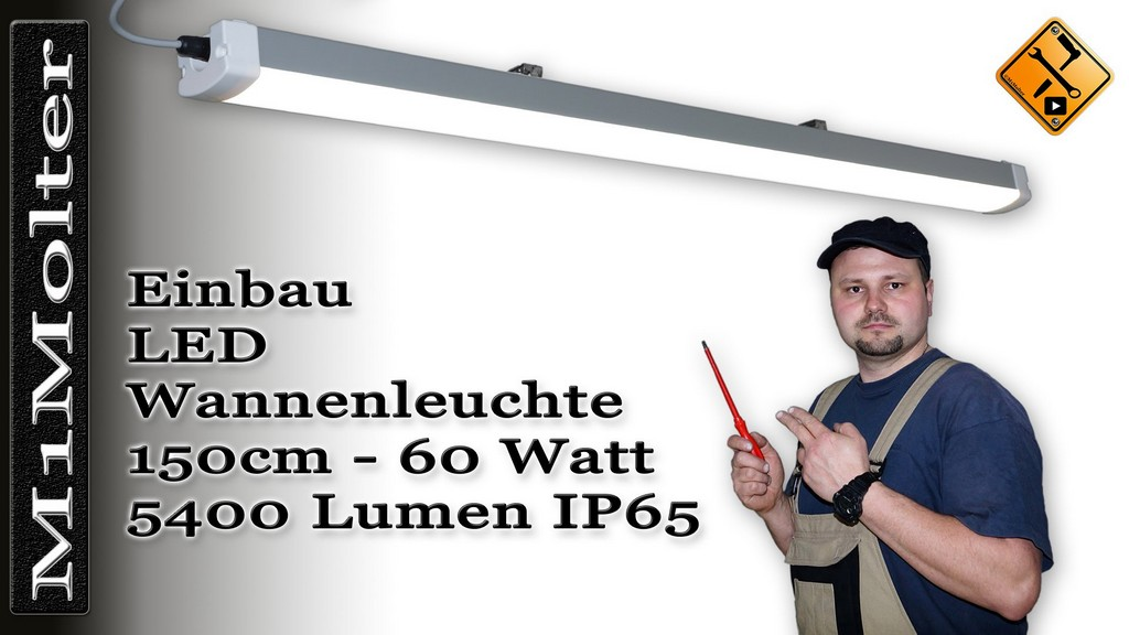 Led Leuchte Fr Garage Carport 150cm Montage Und Installation in proportions 1920 X 1080