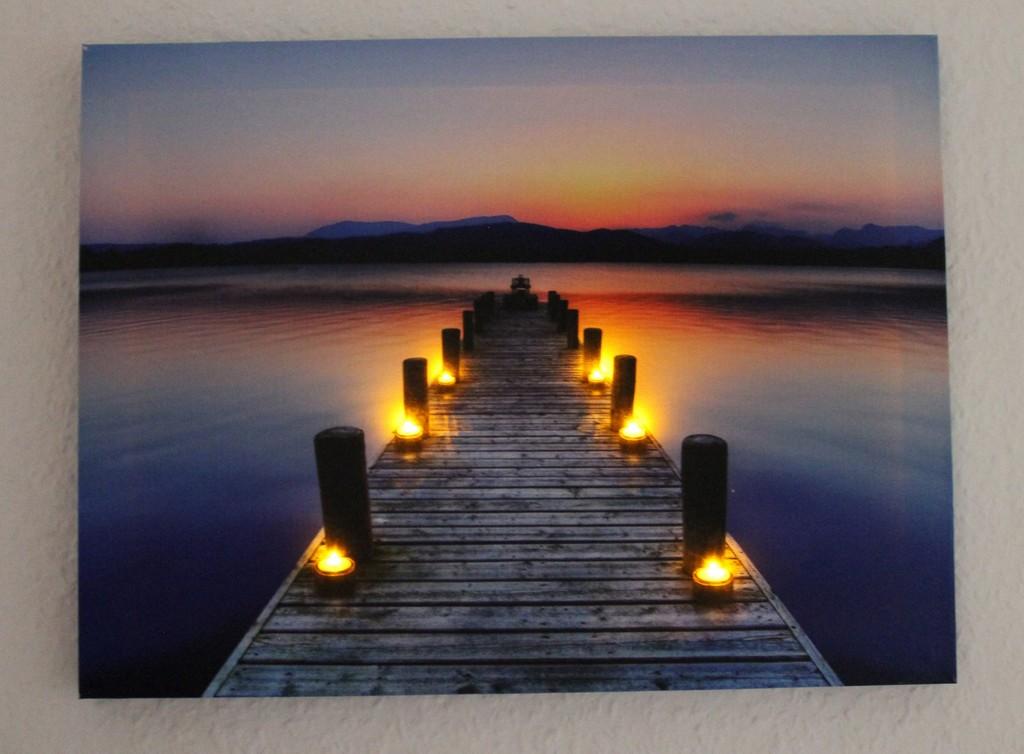 Led Wandbild Canvasholz Mit Led Beleuchtung 40x30x2cm Steg regarding dimensions 1467 X 1080