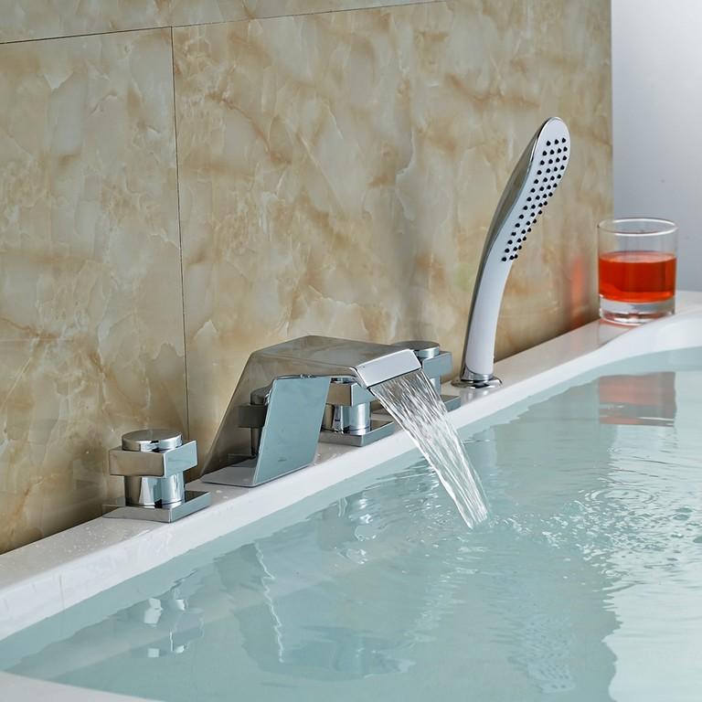 Luxus Dusche Wasserhahn Bad Badewanne Auslauf Mischbatterie Chrom with regard to sizing 900 X 900
