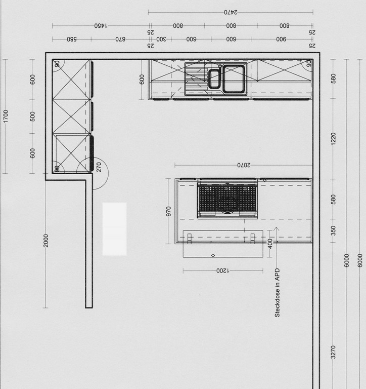 Luxus Mae Arbeitsplatte Kche within dimensions 1620 X 1719