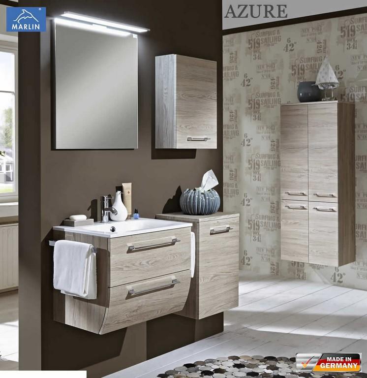 Marlin Azure Badmbel Set Mit 60 Cm Waschtisch Und Spiegelpaneel in sizing 1103 X 1136