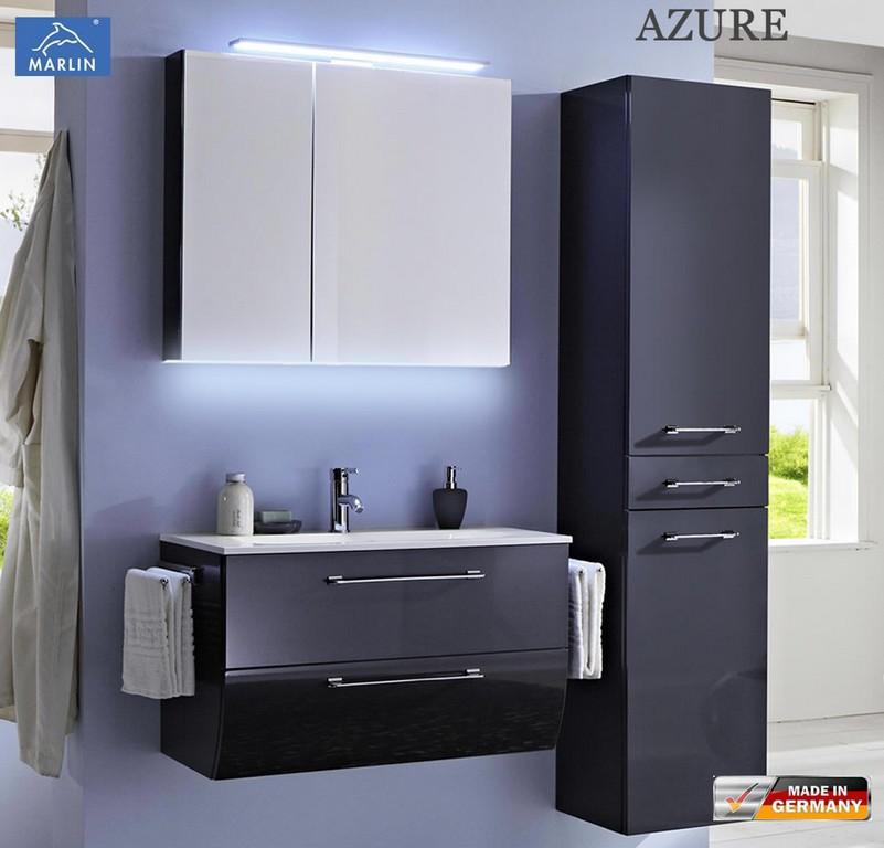 Marlin Azure Badmbel Set Mit 80 Cm Waschtisch Und Spiegelschrank regarding size 1103 X 1058