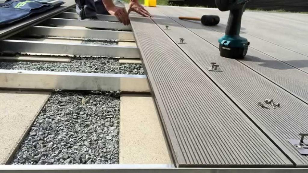 Montage Bambus Bpc Diele Bpc Wpc Terrassendiele Auf Alu regarding proportions 1280 X 720