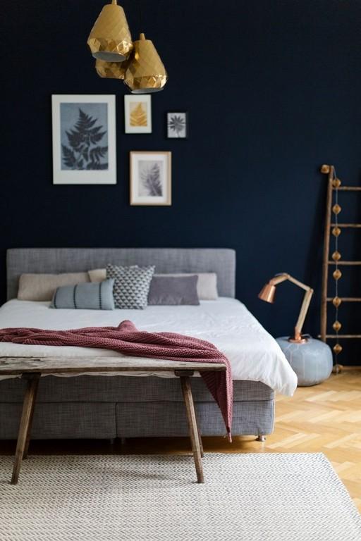 Nachtblau Wandfarbe Beliebt Ein Neues Wohnsinniges Schlafzimmer for measurements 860 X 1290