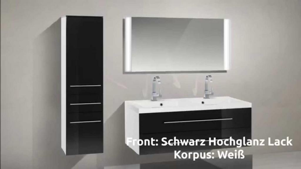 Novelli Badmbel Set Mit Waschbecken Und 120 Cm Doppelwaschtisch in sizing 1280 X 720