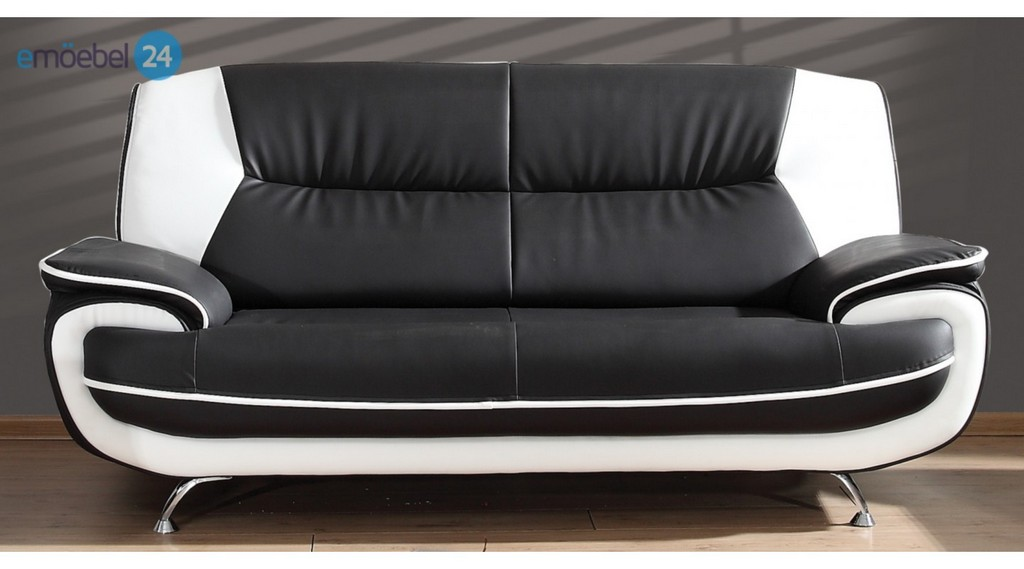 Onyx 3 Sitzer Sofa Couch Industrieleder Pu Kunstleder Emoebel24 pertaining to measurements 1440 X 800