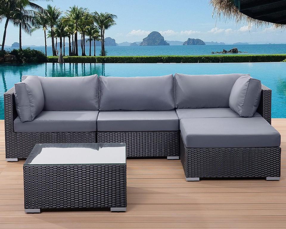 Patio Settee Garden Poly Rattan Lounge Sofa Set Little Big with regard to sizing 1500 X 1200