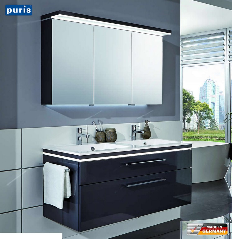 Puris Cool Line Badmbel 120 Cm Mit Doppelwaschtisch S2a431a69 intended for dimensions 1103 X 1136