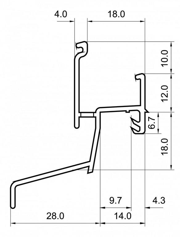 Regenschutzschiene Rg 1295 Rbb Aluminium Profiltechnik Ag regarding dimensions 1040 X 1367
